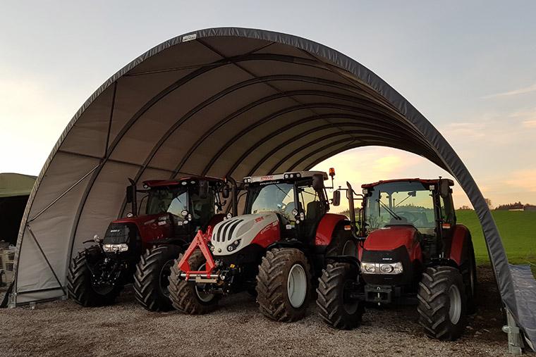 Rundbogenhalle - Unterstellplatz für Traktoren
